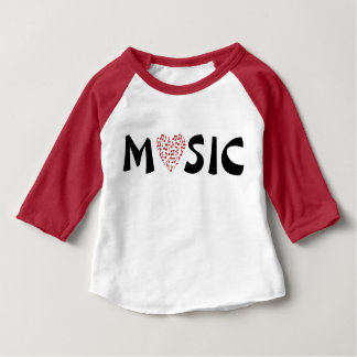 Love Music- Heart of Music Notes for Babies Baby T-Shirt