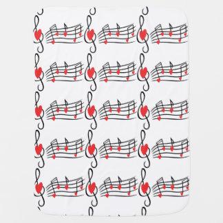 Love Music Stroller Blankets