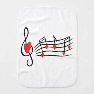 Love Music Baby Burp Cloths