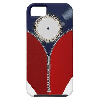 Love Music Zipper Heart iPhone 5 Case