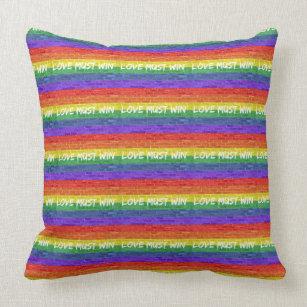 Love Must Win Throw Pillow
