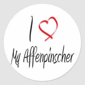 love my affenpinscher sticker