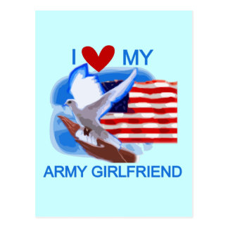Love My Army Girlfriend T-shirts and Gifts Postcards