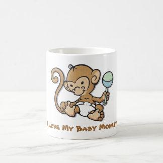 Love My Baby Monkey Basic White Mug