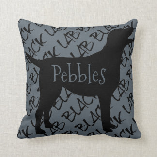 Love My Black Lab Dog Throw Pillow
