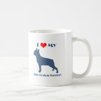 Love My Blue Boston Terrier Coffee Mug