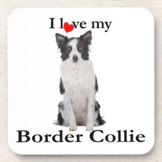Love My Border Collie Coaster Set
