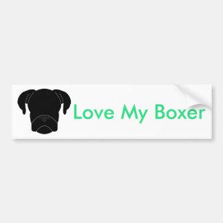 Love My Boxer Bumper Sticker