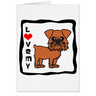 Love My Brussels Griffon Card