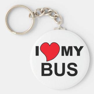 Love My Bus Keychain