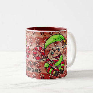 Love My Candy Canes Two-Tone Coffee Mug