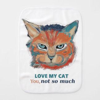 Love my cat burp cloth