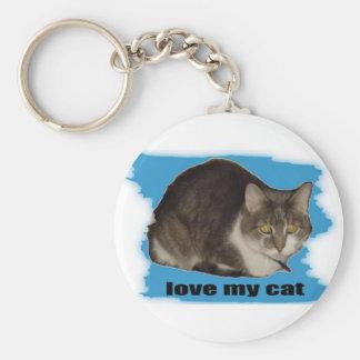LOVE MY CAT KEYCHAIN