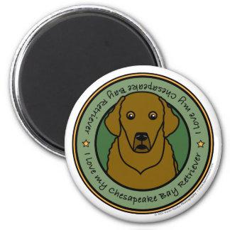Love My Chesapeake 2 Inch Round Magnet