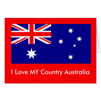 Love MY Country Australia Flag jGibney The MUSEUM Greeting Card