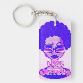 Love My Fro Keychain (Single-Sided)