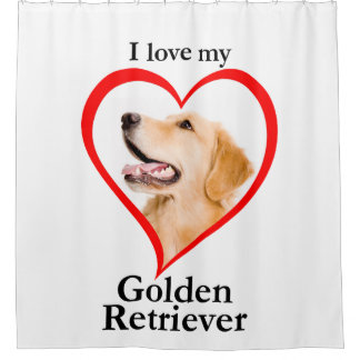 Love My Golden Shower Curtain
