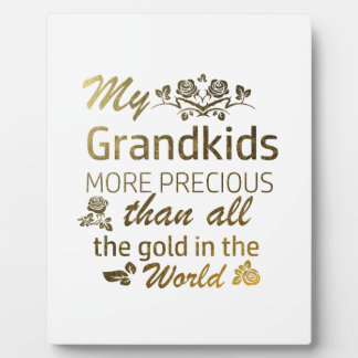 Love my Grandkid designs Plaque