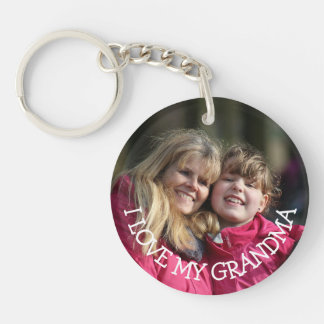 Love My Grandma Personalized Photo Key Chain