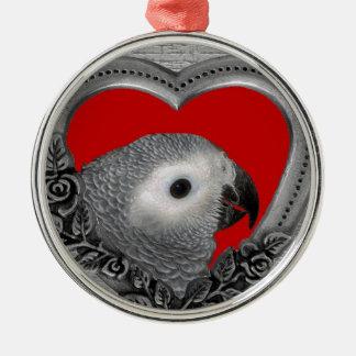 Love My Grey Silver-Colored Round Ornament