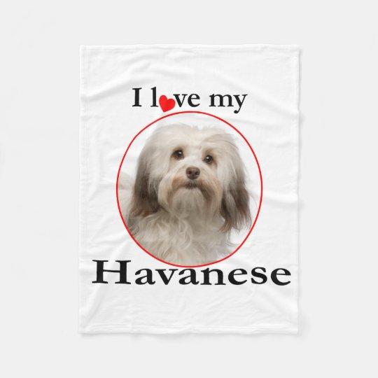 Love My Havanese Fleece Blanket