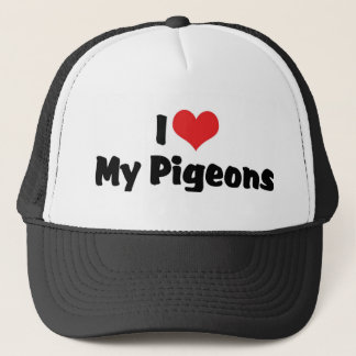 Love My Heart My Pigeons - Bird Lover Trucker Hat