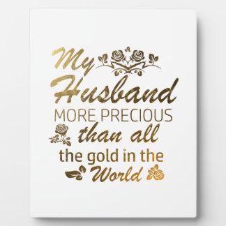 Love my Husband designs Plaque