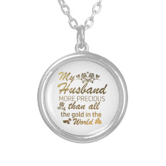 Love my Husband designs Silver Plated Necklace