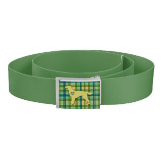 Love My Irish Setter Puppy Dog Tartan Plaid Belt