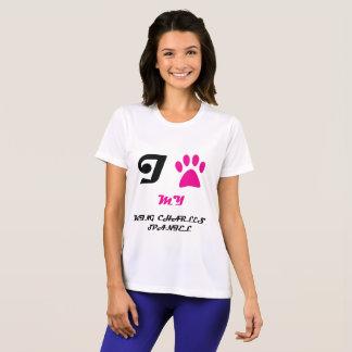 Love My King Charles Spaniel Badge T-Shirt