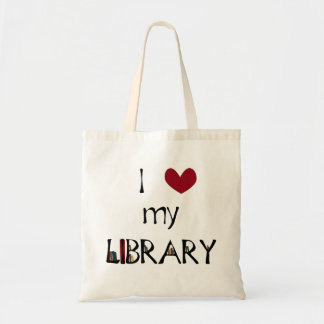 Love My Library Tote Bag