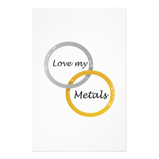 Love My Metals Stationery Design
