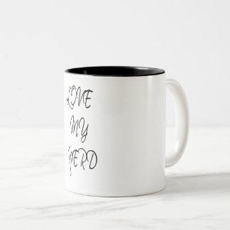 Love my Nerd Two-Tone Coffee Mug