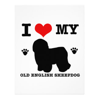 Love my old English sheepdog Personalized Letterhead
