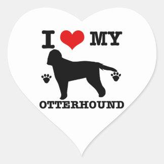 Love my otterhound heart sticker