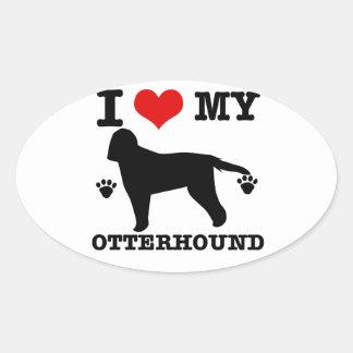 Love my otterhound oval sticker