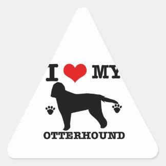 Love my otterhound triangle sticker
