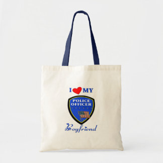 Love My Police Boyfriend Budget Tote Bag