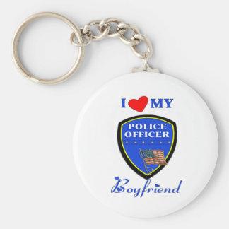 Love My Police Boyfriend Keychain