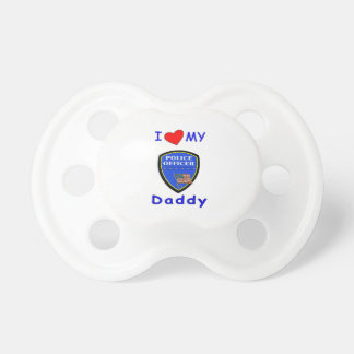 Love My Police Daddy Baby Pacifiers