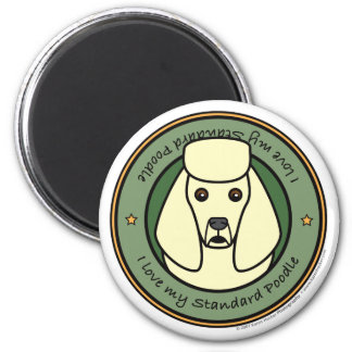 Love My Poodle 2 Inch Round Magnet