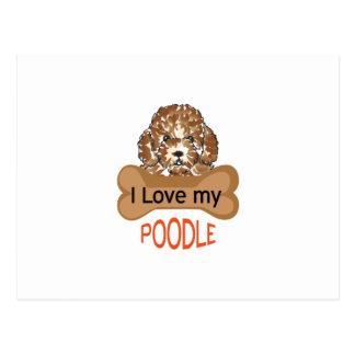 Love My Poodle Postcard