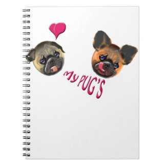 love my pugs notebook
