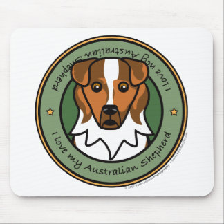 Love My Red Merle Aussie Mouse Mats