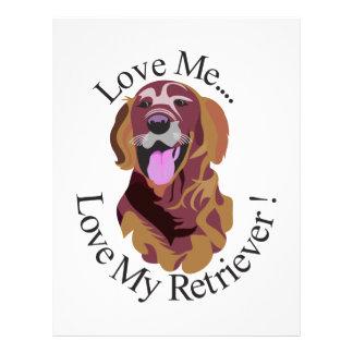 Love My Retriever Letterhead