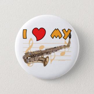 Love My Sax 2 Inch Round Button