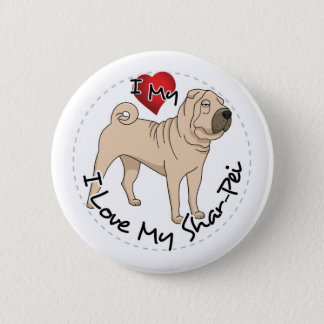 Love My Shar Pei 2 Inch Round Button