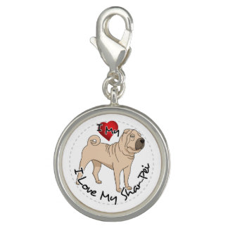 Love My Shar Pei Charms