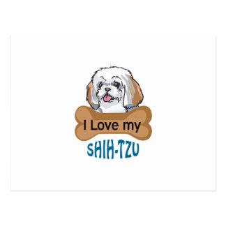 Love My Shih-Tzu Postcard