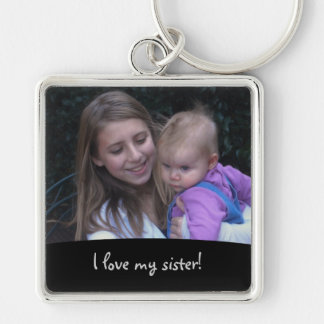 Love My Sister: Picture Keychain